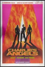 CHARLIE'S ANGELS - 27x40 Original Movie Poster MYLAR Cameron Diaz Lucy Liu Foil