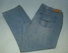 GUESS DEL MAR SLIM STRAIGHT FIT DISTRESSED LIGHT WASH JEANS MEN SIZE W40 L32