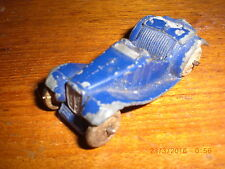 Dinky Pre War Blue MG Sports Car 35C With White original Wheels (original paint)