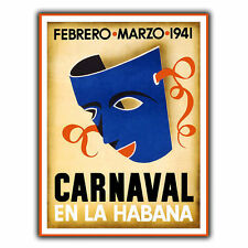HAVANA CARNIVAL CUBA METAL SIGN WALL PLAQUE Vintage Holiday Travel Advert print