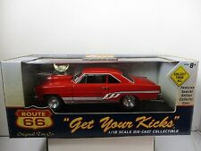 1/18 ROUTE 66 RED 1966 PRO STOCK NOVA