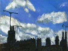 Terry George painting of a cloudy sky in Norwich