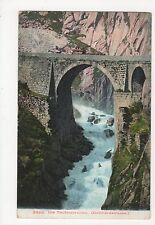 Switzerland, Die Teufelsbrucke, Gotthardstrasse 1907 Postcard, A860