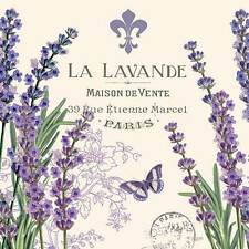 2 single paper napkins decoupage collection Servietten Flowers Lavender Bouquet