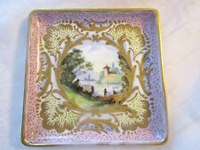 Antique French Sevres Porcelain dish tray plate signed LUC - DEBLOT
