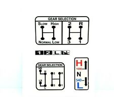 GEAR & PTO SELECTION DECAL FITS DAVID BROWN 770 780 880 885 990 995 996 TRACTORS