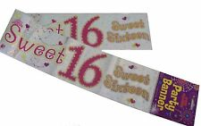 Fun House SWEET 16 HAPPY 16th BIRTHDAY Holograph Banner Party Decoration 12 Foot