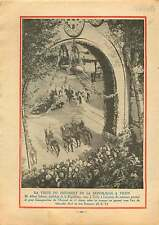 Président Albert Lebrun Arc de Triomphe de Vichy Thermal  1933 ILLUSTRATION
