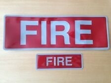 Encapsulated reflective badge set FIRE front back slide in style