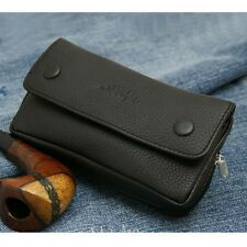 New black leather multipurpose tobacco pouch Pipe pocket  Z8