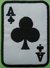 Ecusson patch brodé thermocollant carte à jouer, poker, As de Trèfle