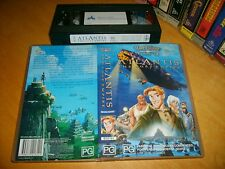 Vhs *ATLANTIS THE LOST EMPIRE* Australian Issue - Walt Disney Animation Classic!
