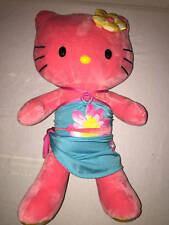 Build a Bear Pink Hello Kitty Aloha Sun Plush Swim Suit & Flower Bow