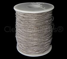 Ball Chain Roll - 330 Ft - Antique Silver (Platinum) Color - 1.5mm Ball - 100M