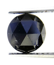 1.40TCW 6.5 MM Round Rose cut Jet Black AAA Color African Natural Loose Diamond