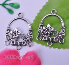 10pcs tibetan silver classical earring connector findings 30mm A123