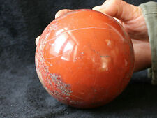 "4.8LB 4.4"" NICE NATURAL RED JASPER QUARTZ CRYSTAL SPHERE BALL HEALING Africa"