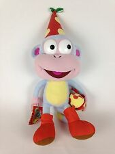 "Dora the Explorer Boots Monkey 19"" Stuffed Plush Doll Birthday Hat Present Gift"