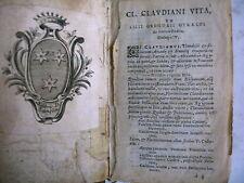 poésie latine CLAUDIANI VITA Gregorii gyraldi ex libris D. Langlois