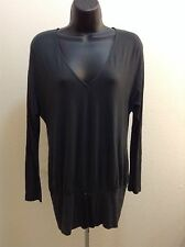 UNITED COLORS OF BENETTON WOMEN GRAY COLOR LONG SLEEVE BLOUSE SEE MEASURE SXS