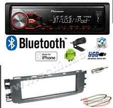 Pioneer MVH-X380BT autoradio USB / bluetooth + Kit montaggio per Smart ForFour