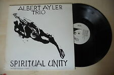 "ALBERT AYLER TRIO ""SPIRITUAL UNITY -disco 33 giri BASE REC Italy""  RE"