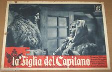 fotobusta film LA FIGLIA DEL CAPITANO Cesare Danova Irasema Dilian 1947