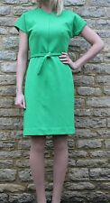 Diane Von Furstenberg Bright Green Textured Mini Shift Dress 10 S