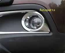 Chrome Front Bumper Fog light lamp Bezel Cover Trim For Peugeot 2008 2013 2014