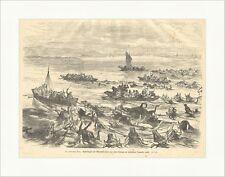 Orientalischer Krieg: Baschi Bozuks und Tscherkessen Holzstich SUPERPREIS X 1471