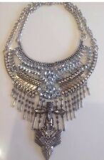 Zara Statement Necklace, Silver Boho Vintage