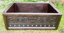 NEW COPPER Sink w/Fleur de Lis Design 33x22x10   16 GAUGE
