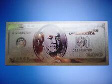 USA 100 DOLLARS 24 KARAT GOLD / GOLDFOLIENNOTE GOLDBARREN #0483P
