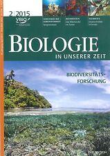 Biologie in unserer Zeit, Heft 2/2015, BIUZ, S. 65-128 +++ wie neu +++