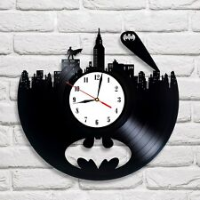 Batman design vinyl record wall clock home art kids bedroom move game [ C ]