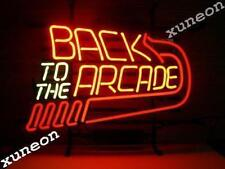 RARE NEW Back to the Arcade Game Store Handcrafted Neon Sign Beer Bar Pub Light
