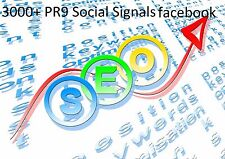 3000+ PR9 Social Signals Monster Pack from the BEST Social Media website FB +*