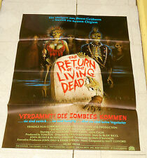original German THE RETURN OF THE LIVING DEAD POSTER Clu Gulager Don Calfa