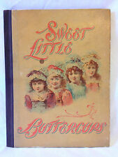 SWEET LITTLE BUTTERCUPS Edgewood Publishing antique 1896 childrens book HB