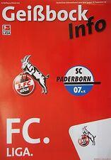 Geißbock Info 2006/07 1. FC Köln - SC Paderborn