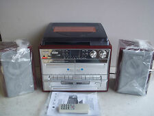 Lenco Phono tcd-990 TWIN CASSETTE SD GIRADISCHI CD mp3 FM HIFI con telecomando