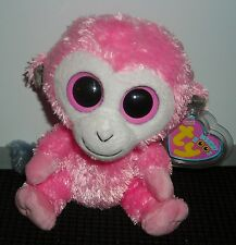 "TY BEANIE BOOS SHERBET THE MONKEY 6"" BEAN BAG PLUSH TOY"