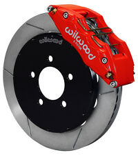 "WILWOOD DISC BRAKE KIT,FRONT,05-13 MAZDA 3,13"" ROTORS,6 PISTON RED CALIPERS"