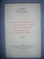 Droit : Egypte: Resp du locataire d'immeuble en cas d'incendie, 1936, envoi, BE