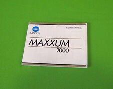 Minolta Maxxum 7000 Camera Instruction Booklet