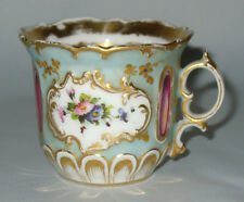 ANCIENNE TASSE LITRON THE CAFE EN PORCELAINE DE PARIS 1860 DECOR DE PIERRES XIX