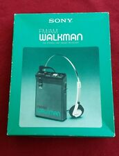 Vintage Sony SRF-22W AM/FM Walkman Radio Headset Earphones Instructions Box