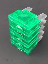 30 Amp Maxi Car Fuse Audio Fuses Boat Auto Blade Style Large Ignition 5 pack NEW