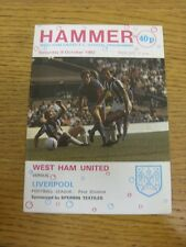 09/10/1982 West Ham United v Liverpool  . Bobfrankandelvis the sellers of the it