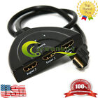 1080P HDMI Port MALE to 3 FEMALE Splitter Cable 3 IN 1 OUT for HDTV DVD Xbox 360